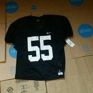 new product 89824 25f9f NWT Nike ID Black Blank 55 Football Players Jersey NWT